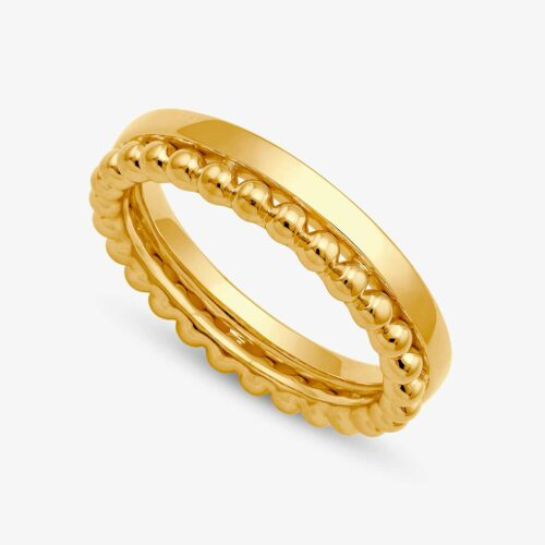 Double Bead Band Yellow - Round Band