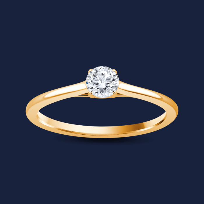 Cathedral Round Ring Yellow