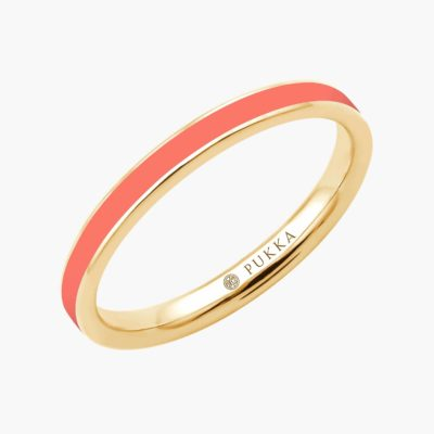 Bahaus Round Ring - Silk Coral Yellow (P2344C)