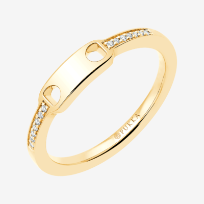 132 Marlene Clip Diamond Ring Yellow