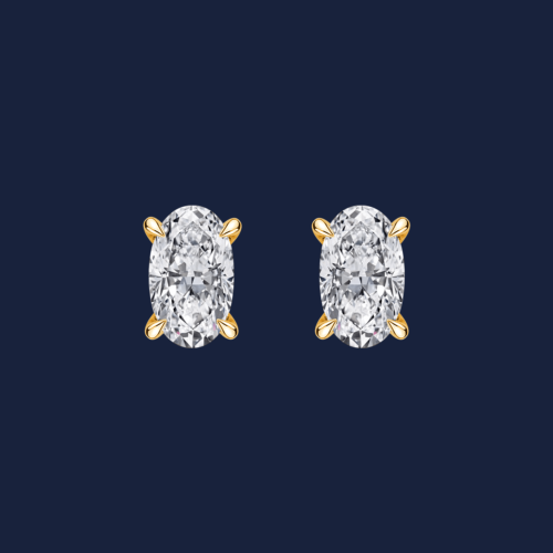 232 Grand Oval Studs Essentials Yellow