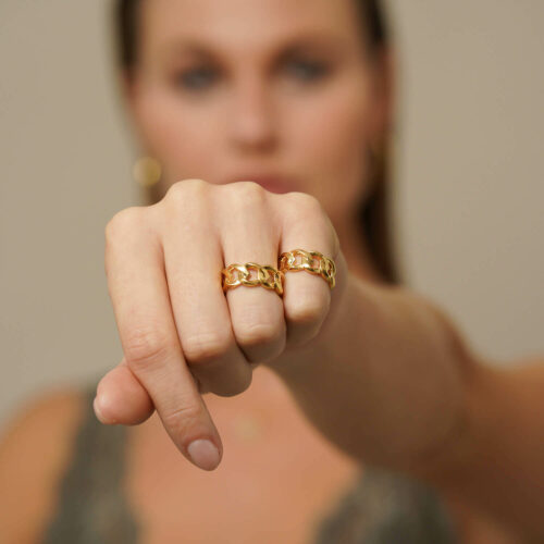 128 - Cuban Chain Ring - Yellow