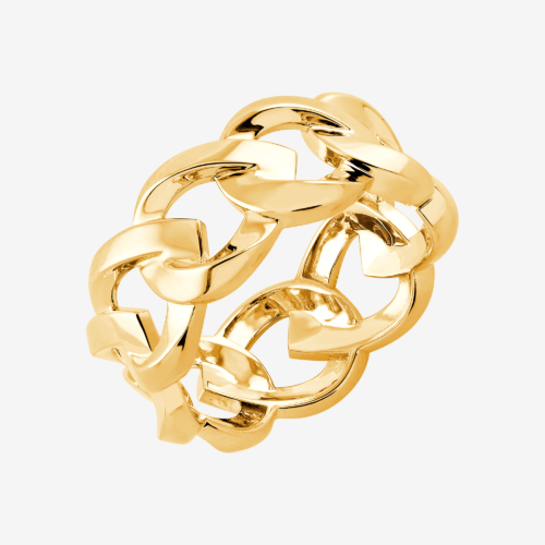 128 Specials cuban chain ring yellow