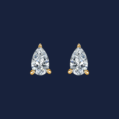 228-Pear-Diamond-Studs yellow