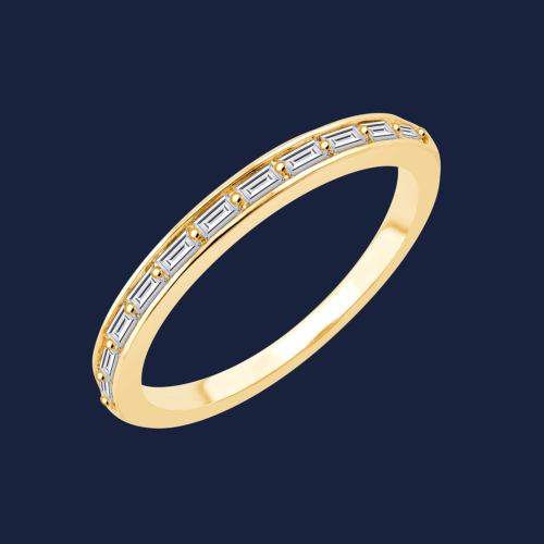 727 Baguette Tunnel Ring Yellow