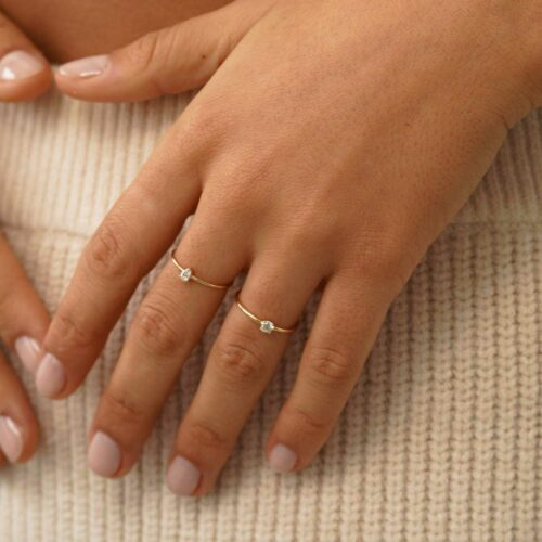 Pear Wire Stack Ring