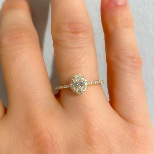 728 - Micro Cathedral Medium Oval Ring