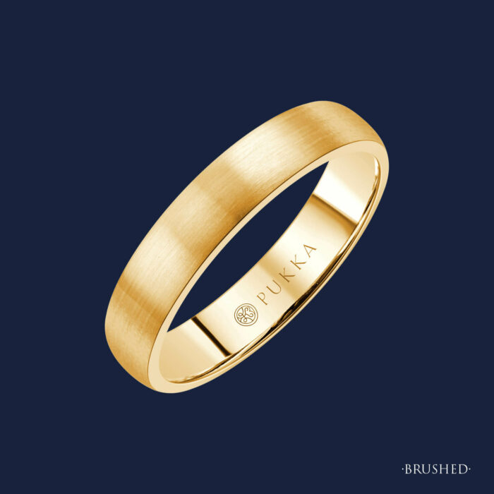Grand Half Domed Band - 185 - Brushed - Yellow