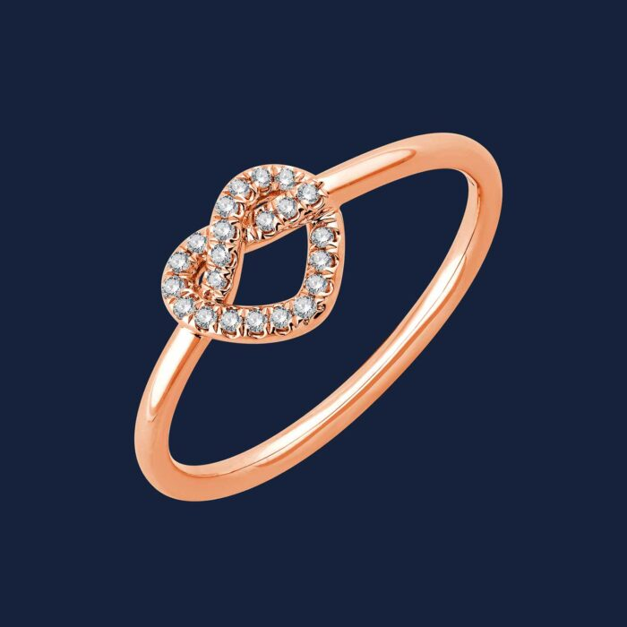 283 Aphrodite Heart Ring rose