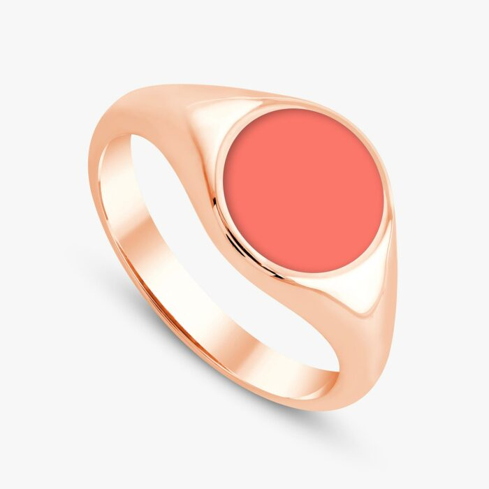 291 custom signet ring rose