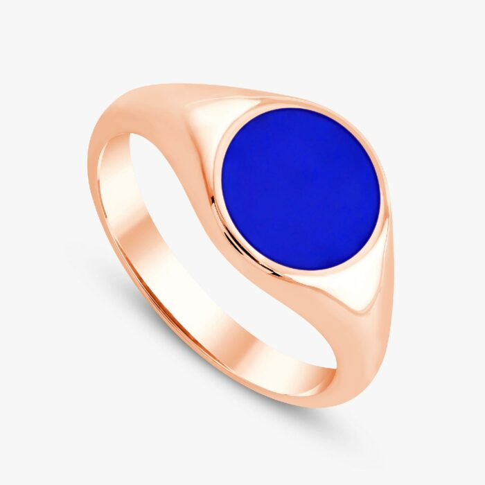 291 custom signet ring rose 3