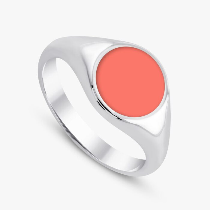 291 custom signet ring white