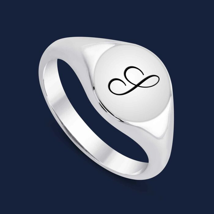 292 Initial Signet Ring -W-S1