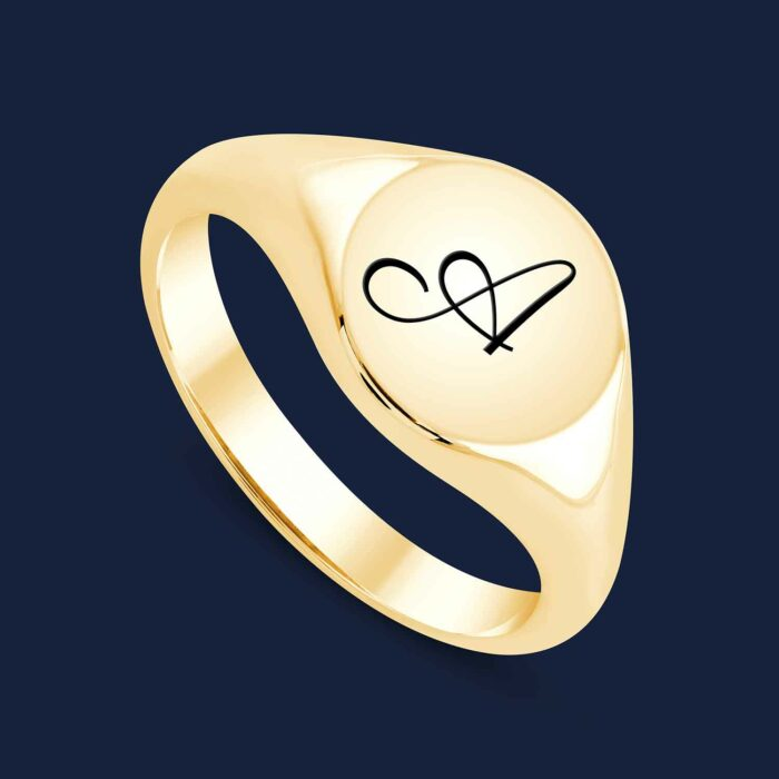 292 Initial Signet Ring -Y-A1