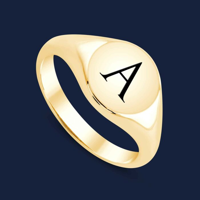 292 Initial Signet Ring -Y-A2