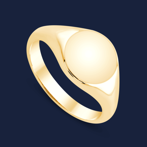 292 Solid Gold signet Ring yellow