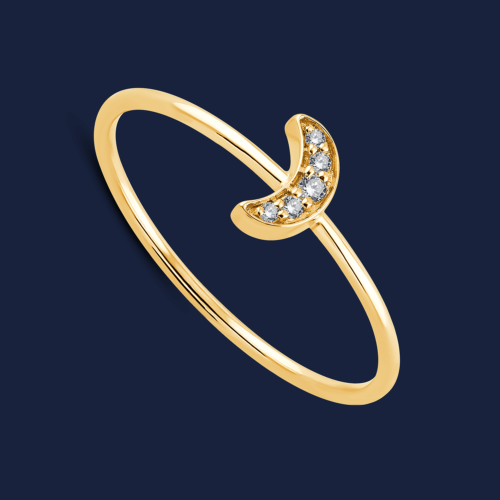 293 moon stack ring yellow