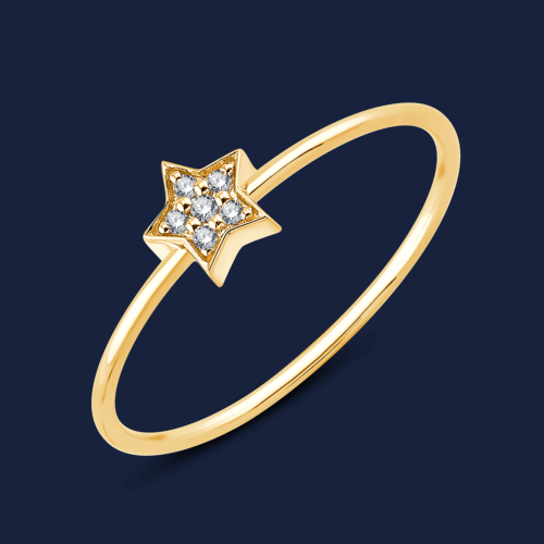 294 Star stack ring yellow