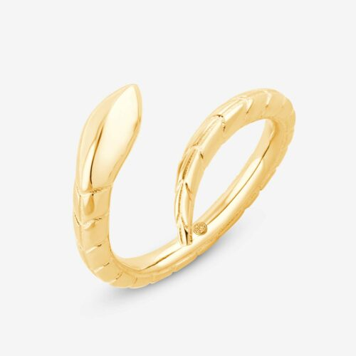 Serpentine Open Ring yellow - Snake Ring