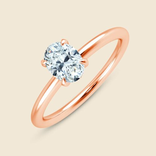 Aster Oval Ring Rose