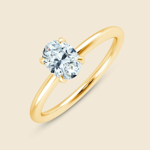 Aster Oval Ring Yellow