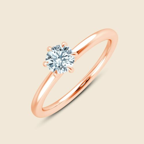 Lily Six Prong Ring Rose
