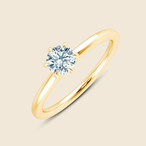 Lily Six Prong Ring Gelb