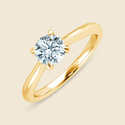 Arch Cross Round Ring Yellow