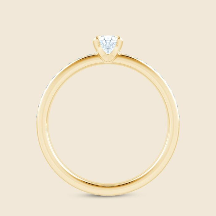 Pear Lily Micro Ring Yellow