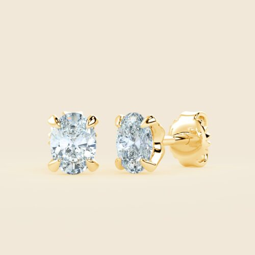 Lily Oval Studs Yellow