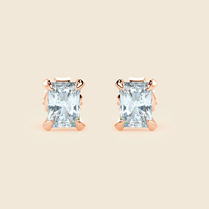 Emerald Lily Studs Rose