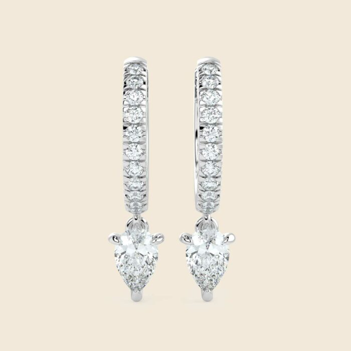 Pear Lily Danglers White