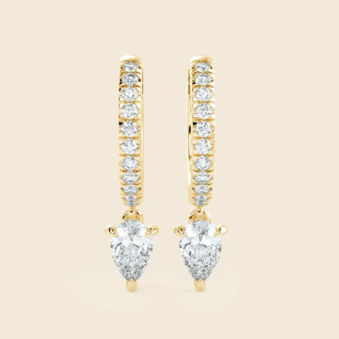 Pear Lily Danglers Yellow