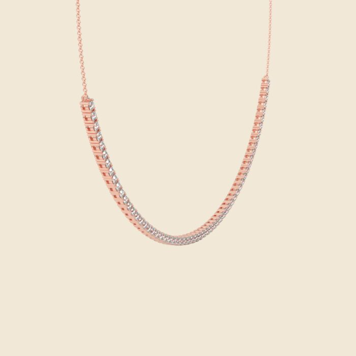 Lily Tennis Necklace Rose