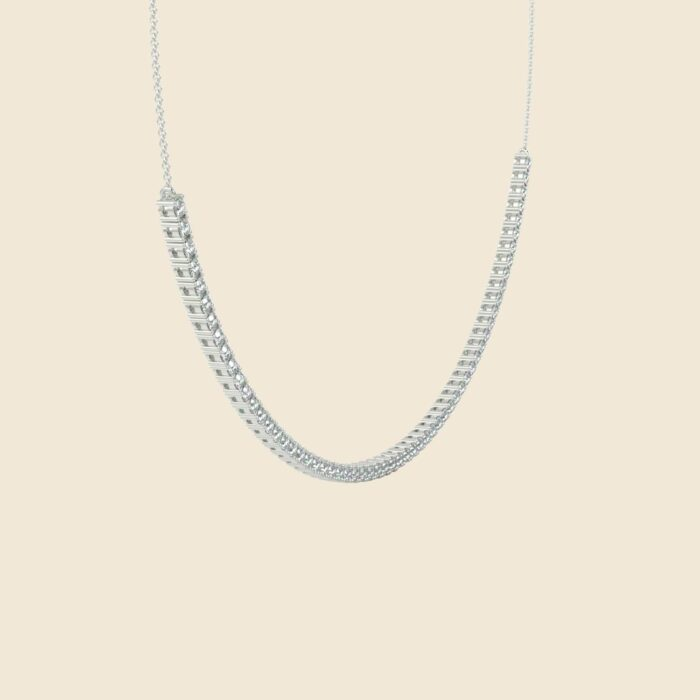 Lily Tennis Necklace White