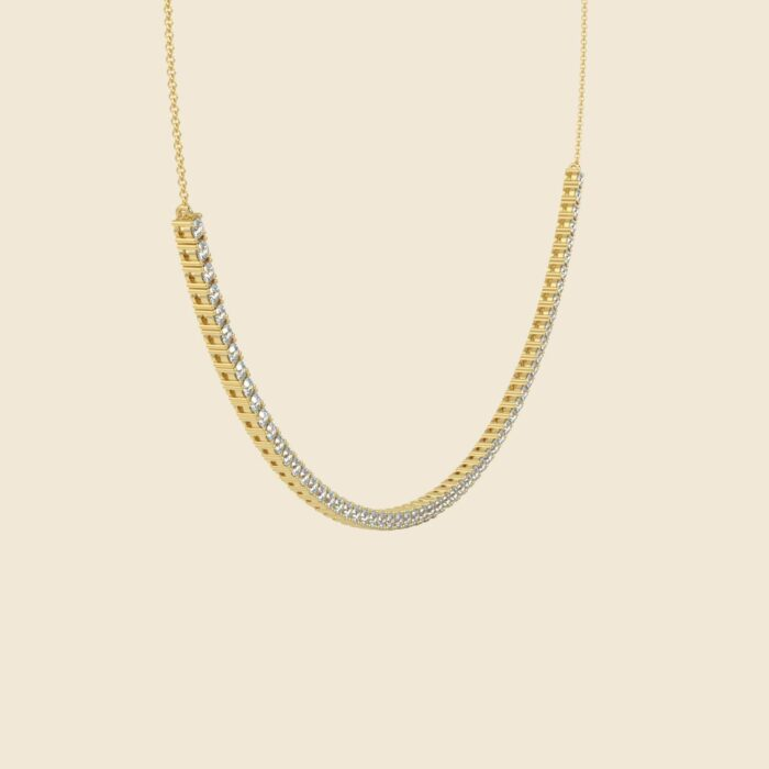 Lily Tennis Necklace Yellow