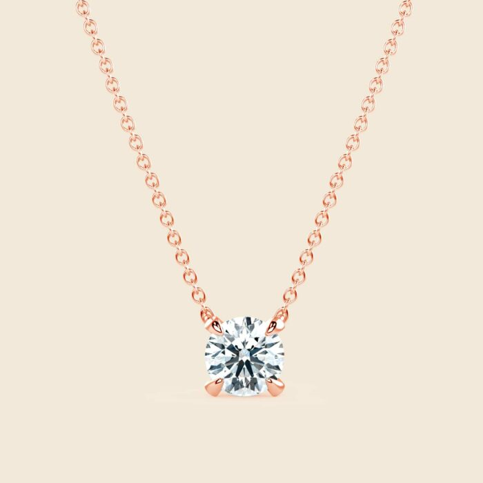 Round Lily Necklace Rose