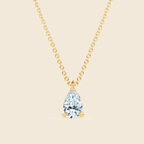 Pear Lily Necklace Yellow